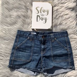 Blue mini denim jean shorts